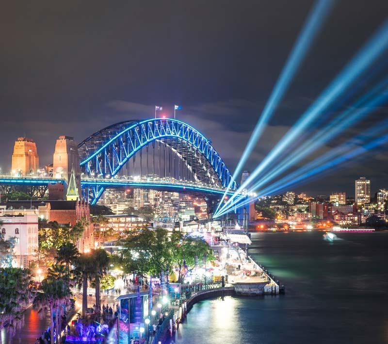 sydney light-festival sydney harbour australia