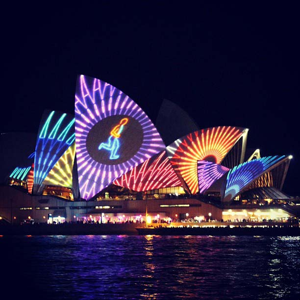 sydney opera house vivid light festival sydney harbour australia